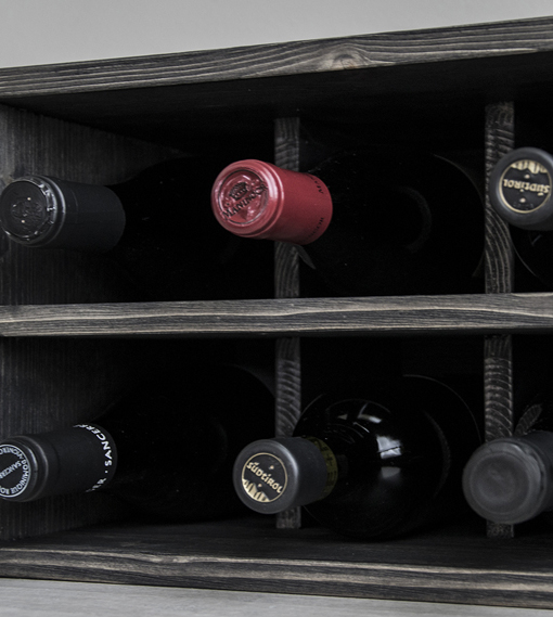 trendy wine rack kitchen