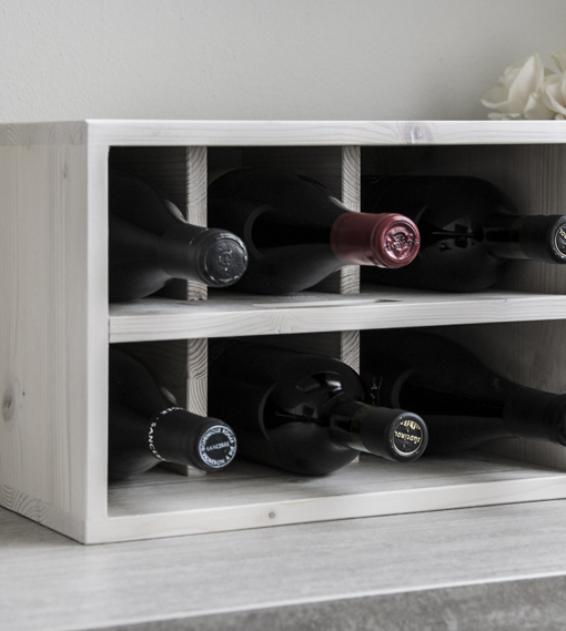 Stylish wine rack white