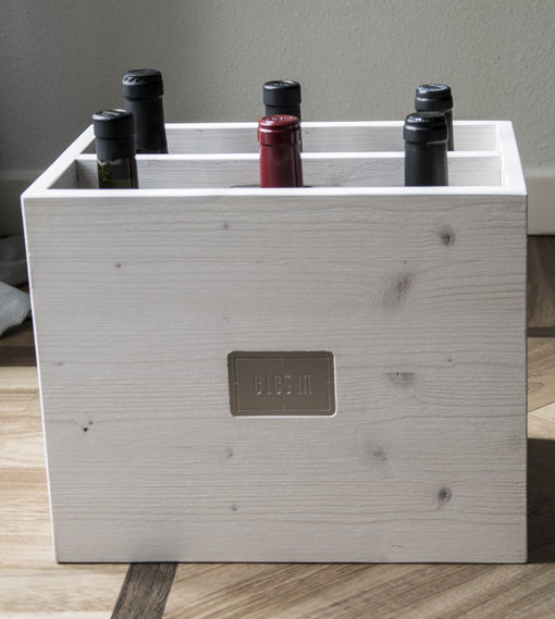 Vesoto white trendy winerack