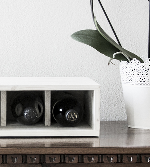 charming Vesoto white wine rack