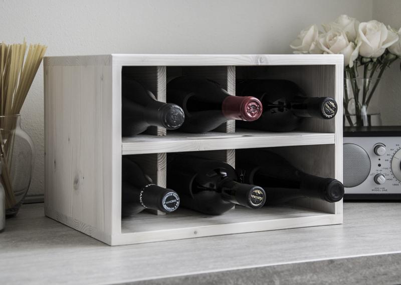 Stylish wine rack white