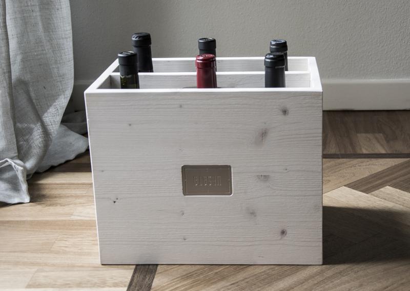 Vesoto white trendy winerack